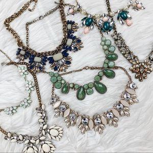 7 Statement Necklace Bundle Lot